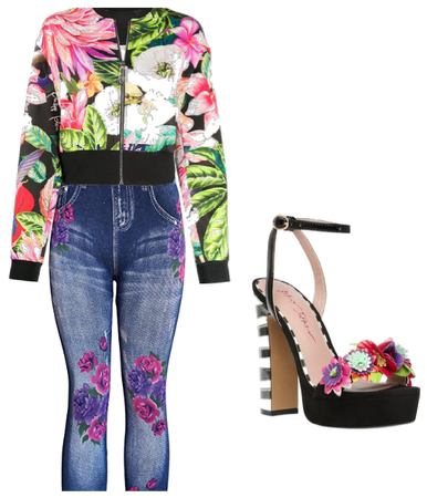 Cutest flower spring outfit