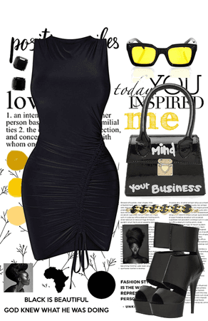 Black is Beautiful   Pops of Yellow!