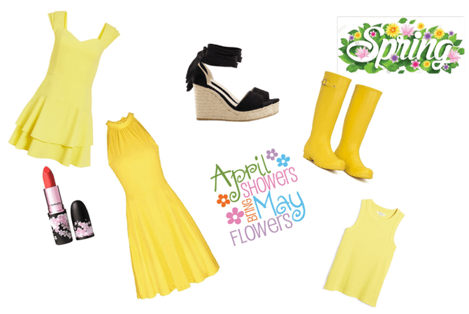Beautiful spring yellow style