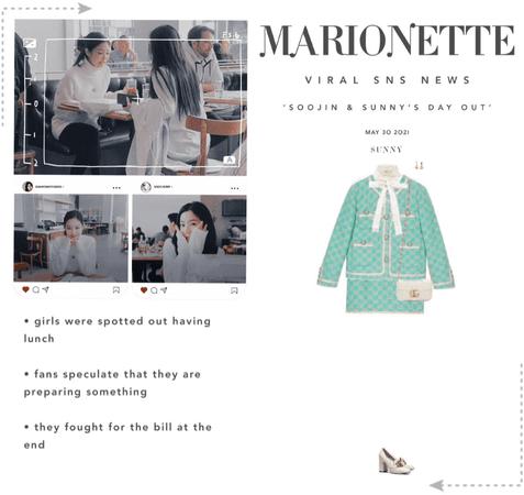 마리오네트 (MARIONETTE) - [SUNNY] SPOTTED OUT W/ SOOJIN