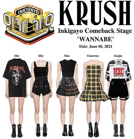 """KRUSH Inkigayo Comeback Stage """"WANNABE"""""""