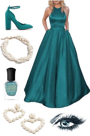 Teal Prom Dress