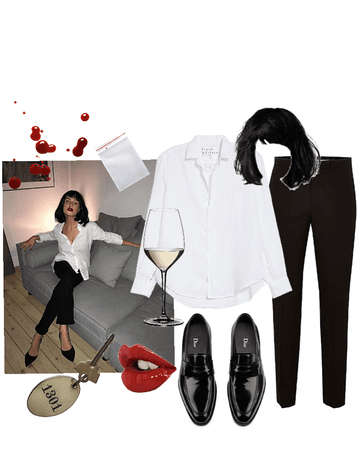 pulp fiction Mia Wallace outfit 🖤