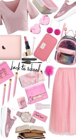 """""""Back to school with a pink outfit"""""""