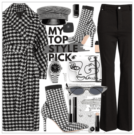Houndstooth print