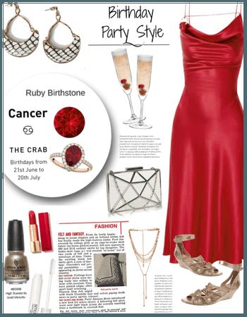 Cancer/Ruby Birthday style