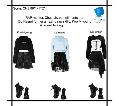 CUBE Entertainment trainees perform their own choreography for CHERRY by ITZY. Koo Miyoung and Do Haemi get an A, Kim Chanri gets a C.
