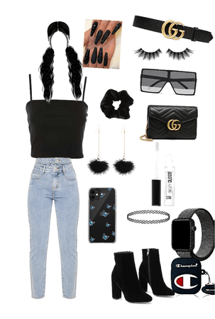 Black cute outfit🖤🖤🖤