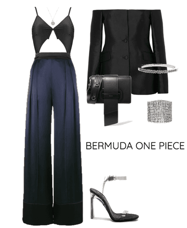Away That Day Bermuda One Piece Coal