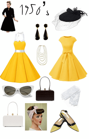 1950's Ladies in Yellow