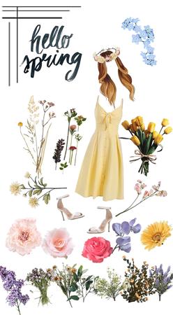 fields of spring flowers