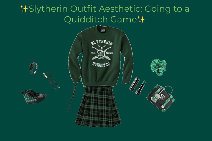 Slytherin Outfit Aesthetic: Going to a Quidditch Game