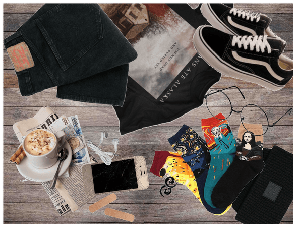 ✿ edgy/grunge for cofee shop ✿