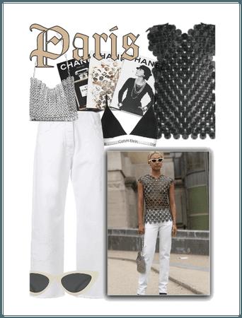 Paris Fashion Week Street Style: Chain Mail