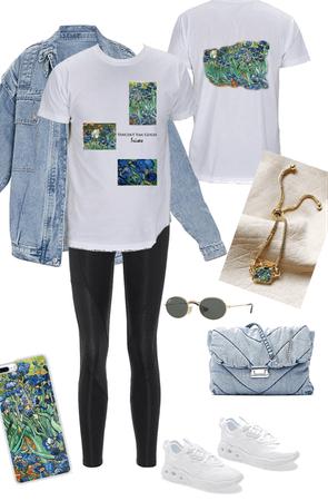 Irises Boyfriend Tshirt Outfit