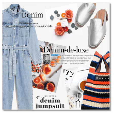 Hop into a denim jumpsuit!