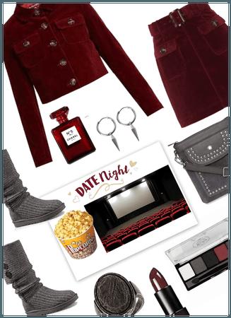 Date Night at Movies/celebrating Popcorn Day