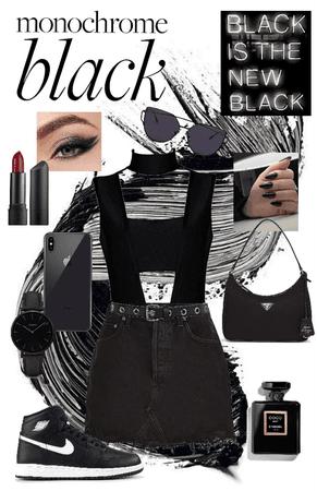 black monochrome style