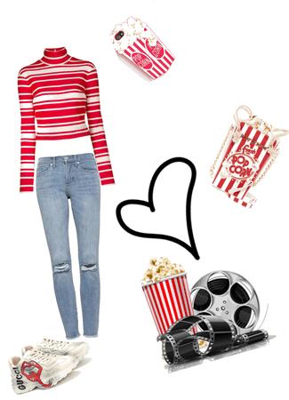 popcorn movie night #nationalpopcornday