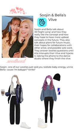 Soojin and Bella's Vlive