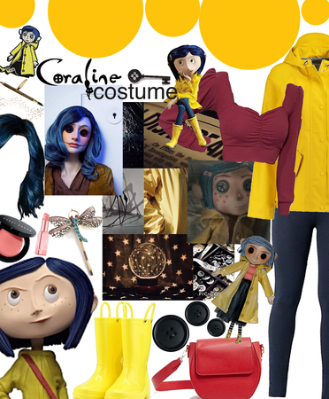 Coraline Costume - I have never seen this but I have heard it's spooky😈💀👻