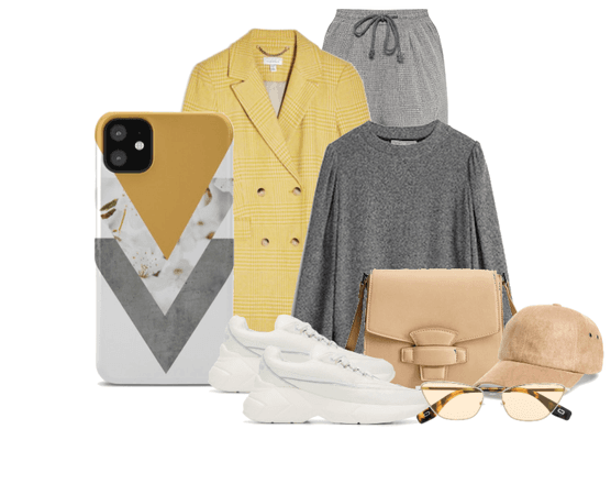 OOTD Yellow jacket & Grey Athleisure
