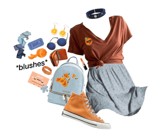 pices: orange&blue