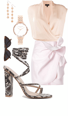 the statement shoe with peach