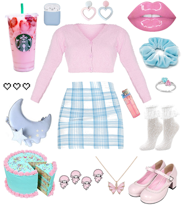 pink and blue<3