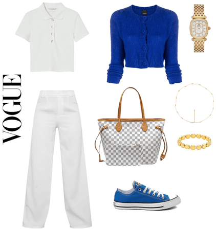 preppy blue outfit