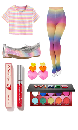 Pastel Rainbow Kidcore Outfit