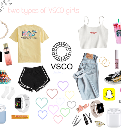 the 2 types of vsco girls