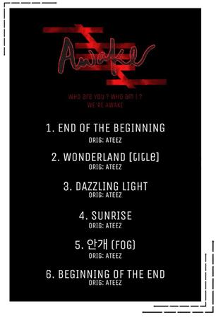 6IX-D [씩스띠] AWAKE Tracklist 201209