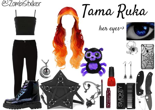 Shadow Hunter Oc: Tama Ruka's casual look (human form)