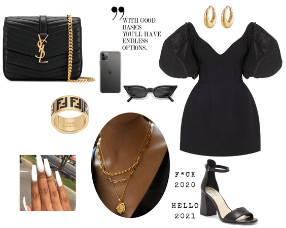 Expensive black dress look!