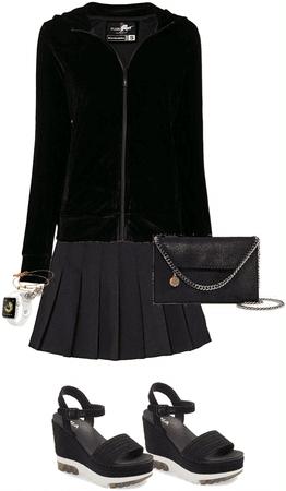 All Black Mini Skirt