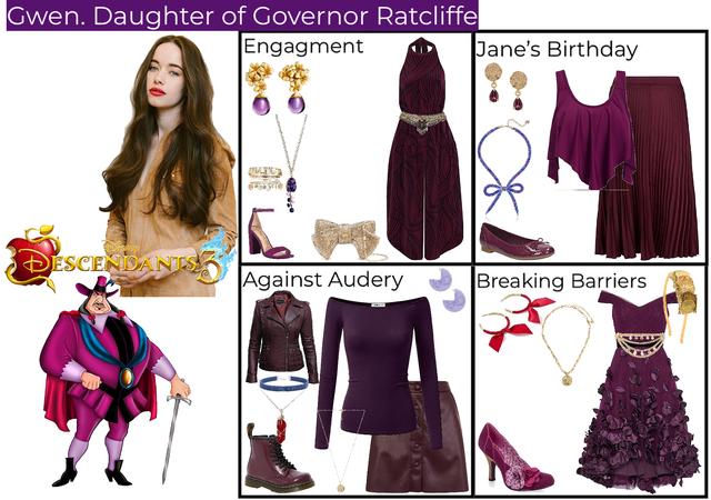 Gwen. Daughter of Governor Ratcliffe. Descendants 3
