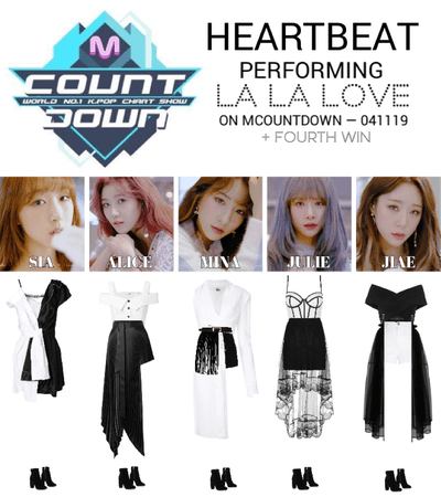 [HEARTBEAT] 'LA LA LOVE' MCOUNTDOWN STAGE + FOURTH WIN
