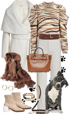 Warm Wear for Walking the Dog!