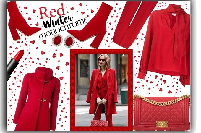 red winter monochrome.