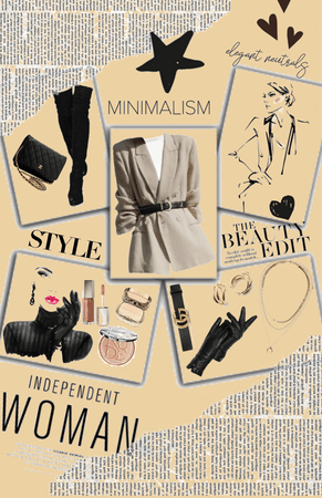 Neutral color minimalist fit