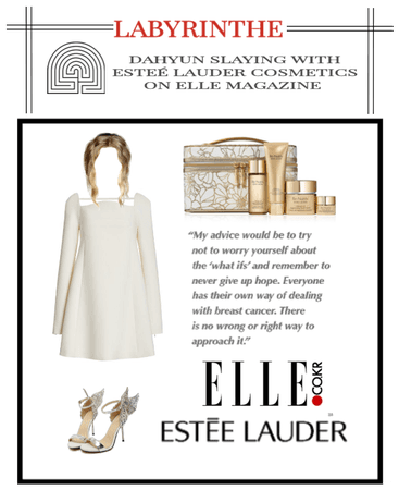 LABYRINTHE dahyun with esteé lauder on ELLE