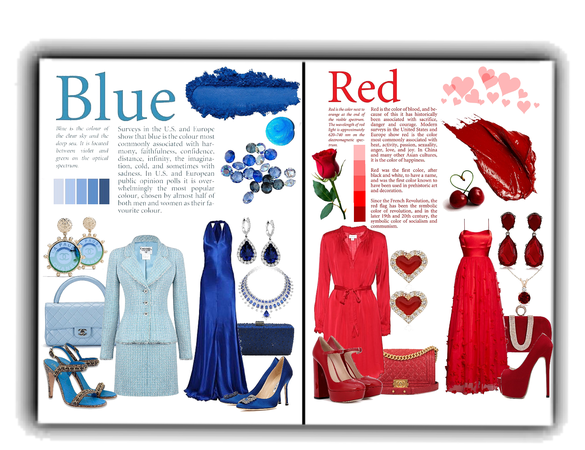 favourite Colors blue and red