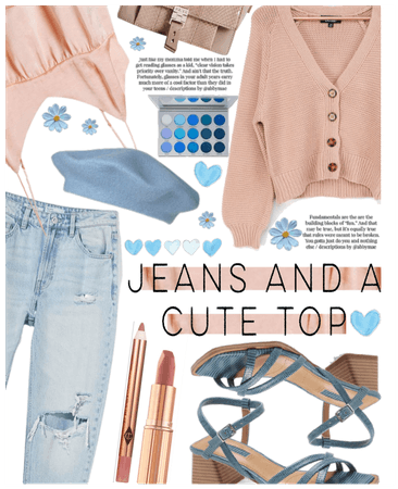 Jeans a cute top II.