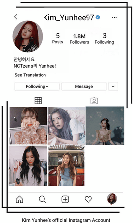 Kim Yunhee Official Instagram Account
