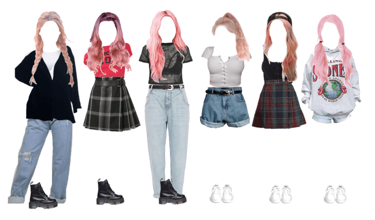 outfits with pink hair