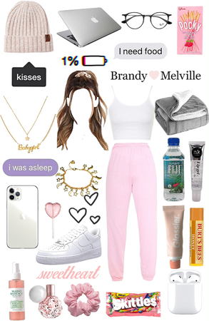 Pink lazy aesthetic.