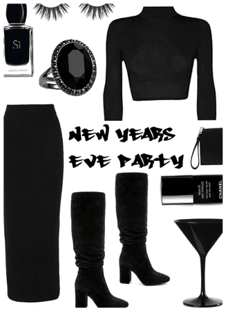 Monochrome Black new years eve party