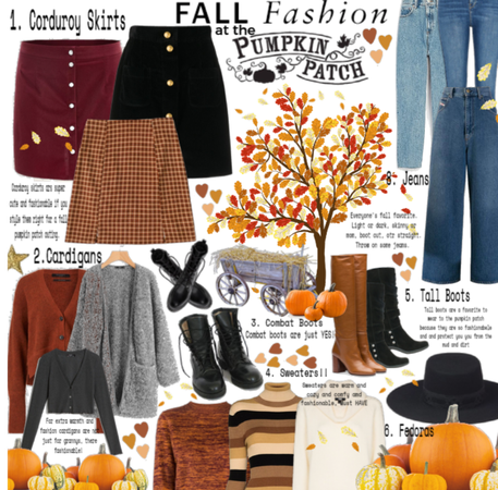 Fall fashion at the pumpkin patch