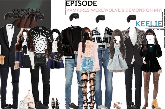 FAIRYTALE EPISODE 7: VAMPIRES WEREWOLVE'S DEMONS OH MY! | KEELIE & DEREK SCENES